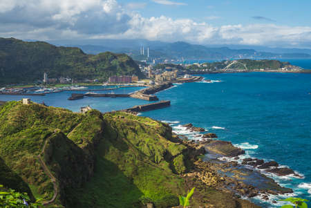 scenery of Badouzi fishery harbor in keelung, taiwan 版權商用圖片