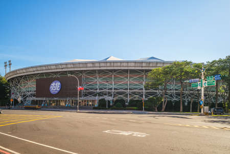 November 26, 2020: Taoyuan International Baseball Stadium, the most popular stadium located in Taoyuan, Taiwan. It is 4 hectares in size, with one underground level and three levels above the ground.