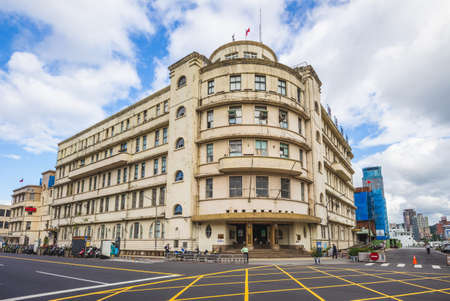 November 25, 2020: Former Keelung Harbor Marine Administration Bureau, Joint Office Building, was built in 1930 in keelung, taiwan, It was renamed the Keelung Harbor Building in 1947. 新聞圖片