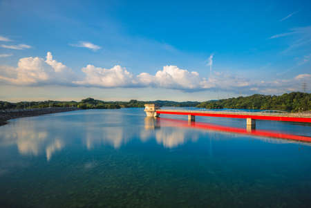 landscape of Baoshan Reservoir in Hsinchu, Taiwan