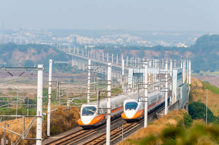 taiwan high speed rail (THSR) at miaoli