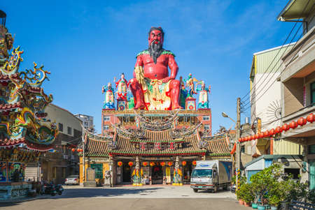 November 5, 2020: Zhunan Wugu Xiandi Temple in miaoli, taiwan. This temple was originally built in 1739 to devoted to Shennong, the god of agriculture and herbal drugs, and was rebuilt several times.