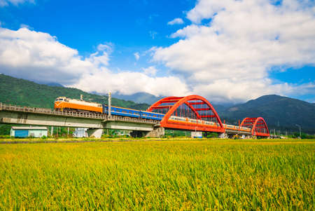 kecheng bridge near yuli railway station in hualien, taiwan
