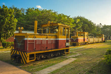 Old railway and trains at Ciaotou sugar factory in Kaohsiung, Taiwan