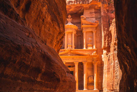 Al Khazneh, aka The Treasury at Petra, jordan.