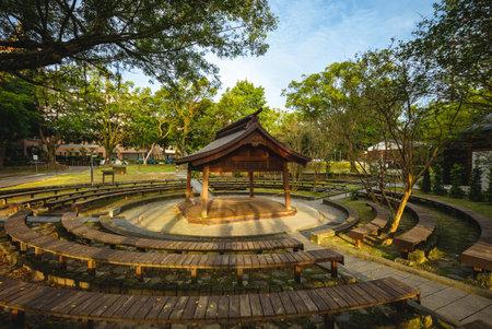 The sumo wrestling ring at Daxi Zhongzheng Park in Taoyuan, taiwan Archivio Fotografico