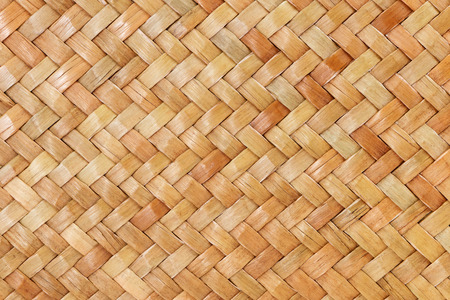 materia: traditional thai style pattern nature background of brown handicraft weave texture bamboo surface for furniture materia Stock Photo