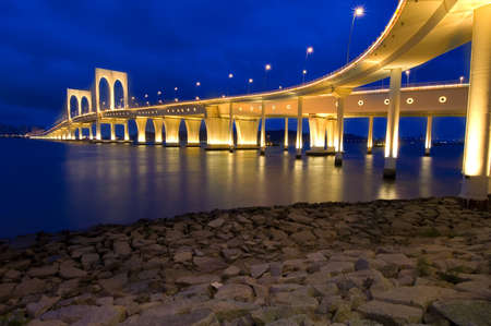 and streetlights: the sai van bridge, Macao