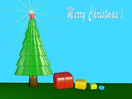 3D Christmas Theme Background