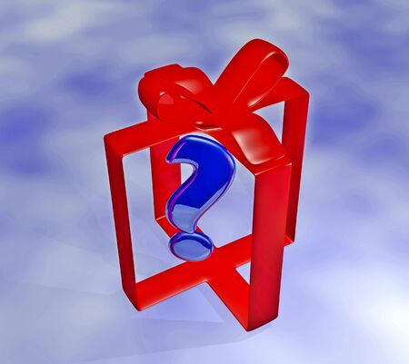 A 3D render of a gift ribbon shaped as if wrapped around a gift box Stock Photo - 16478986