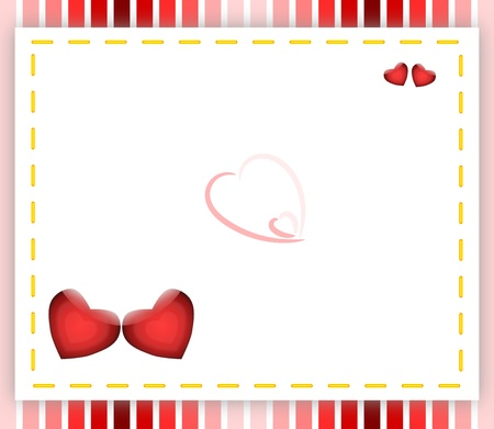 A simple valentine backdrop with ample space for writing a message   Stock Photo - 17093662