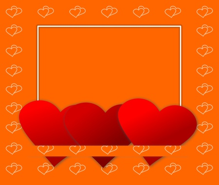 A romantic valentine card with hearts and space for text message Stock Photo