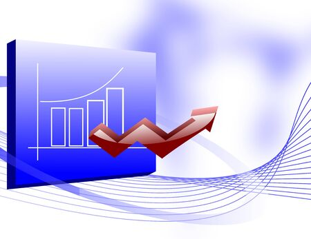 Business Growth Chart with an Up Arrow photo