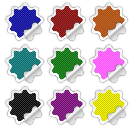 Checkered Stickers Stock Photo