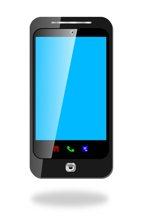 Touch Screen Smart Cell Phone Stock Photo