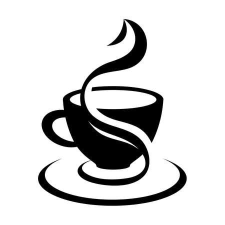 Beautiful coffee cup. Vector. Vektoros illusztráció