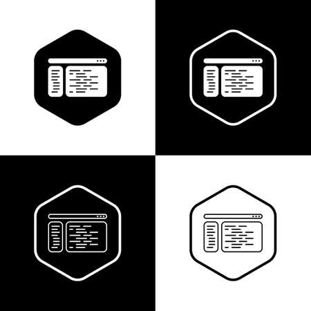Modern coding and polygon icon. Vector.