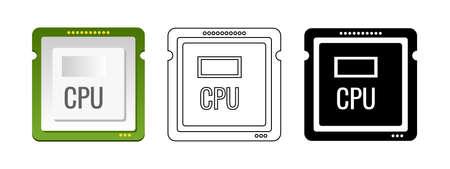 CPU icon. Vector.
