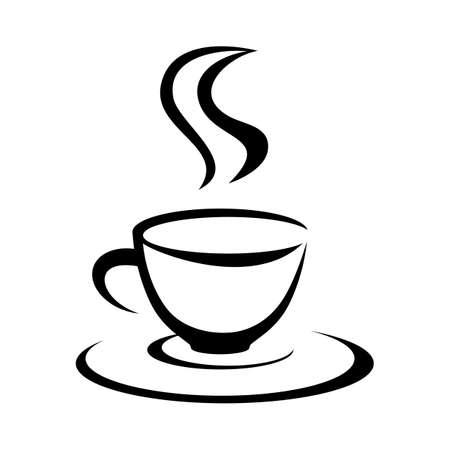 Stylish coffee cup. Vector.