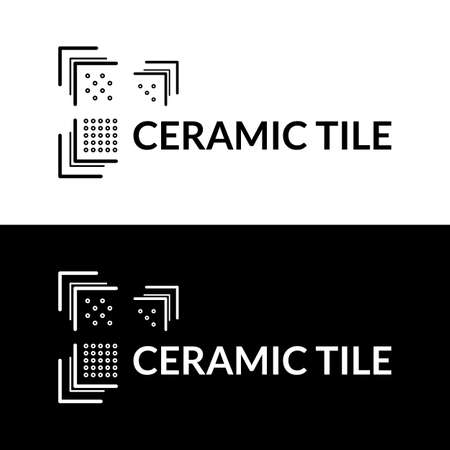 Modern geometric ceramic tile  . Vector.