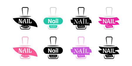 Nail studio design set. Vector.
