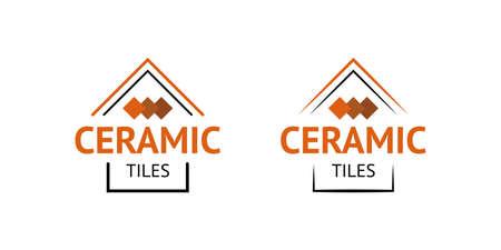 Modern geometric ceramic tiles logotype. Vector. Logo