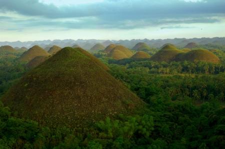 Chocolate hills in The Philippines Standard-Bild