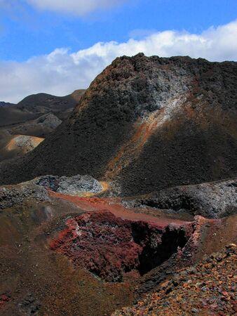 Active volcano at Galapagos Islands