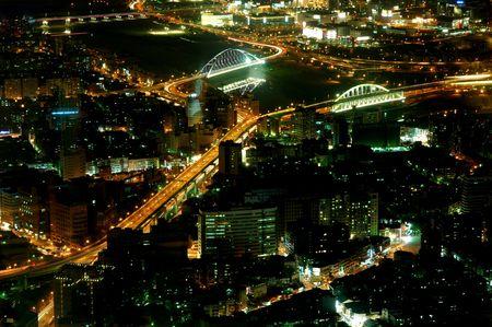View of Taipei from top floor of Taipei 101 (Taiwan)