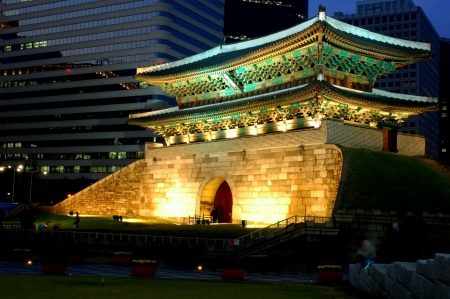 recently: Namdaemun - cultural asset number 1 in South Korea that was recently burnt down by an arsonist