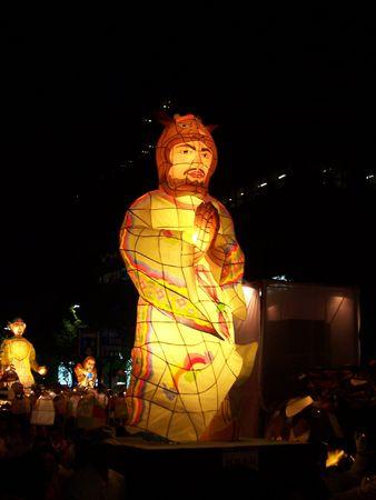 Big lantern at Buddha's birthday parade in South Korea Stock Photo - 2649224
