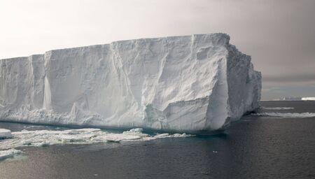 Gloomy tabular iceberg in Antarctica