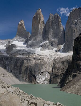 paine: Torres of Torres Del Paine National Park in Chile