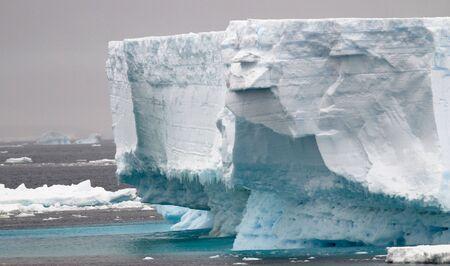Jagged Antarctic iceberg
