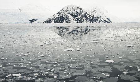 brash: Brash ice and mountain