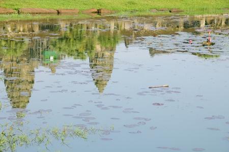 Angkor Watt Reflection, Cambodia