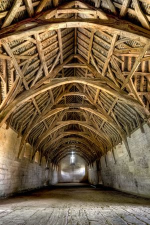 shaftesbury: The Tithe Barn was built in the early 14th century as part of the medieval farmstead belonging to Shaftesbury Abbey.  Its function was to store the produce of the farm, and of the farms of the manor. Tenant farms contributed a tithe, meaning a tenth of th