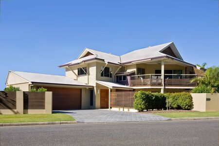 home exterior: Modern style house in Brisbane, Queensland, Australia Stock Photo