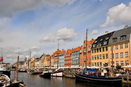 numerous: Picture of Nyhavn (New Harbour) in Copenhagen, Denmark. This historic old street borders a canal and features numerous restaurants.