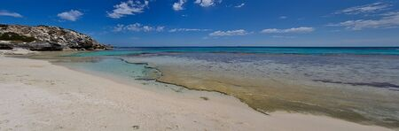 turqoise: View of a deserted beach with tranquil turqoise waters, captured on Rottnest Island in Australia. High dynamic range (HDR) image processing used.