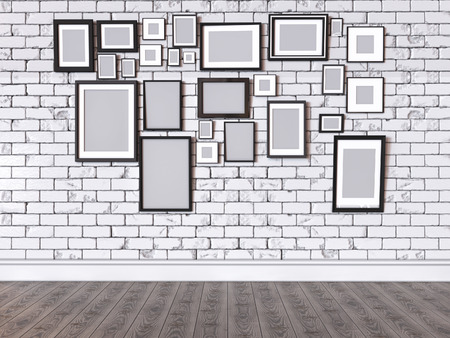photo of pattern: 3D render of a picture on a wall Stock Photo