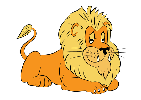 childrens book: illustration of an animation lion for the childrens book