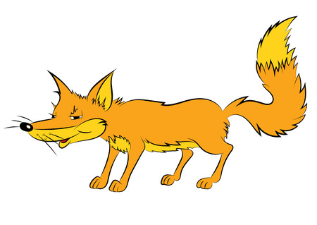 childrens book: Illustration of an animation cunning fox for the childrens book