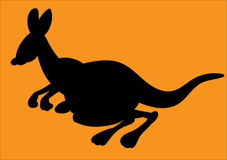 kangaroo mother: Illustration of an animation kangaroo.