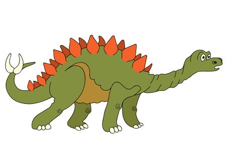 carboniferous: Illustration of a dinosaur Stegosaurus Illustration