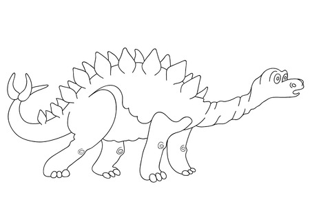 stegosaurus: Ilustraci�n de un dinosaurio del Stegosaurus
