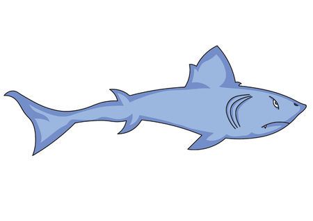 childrens book: illustration of cartoon shark for the childrens book Illustration