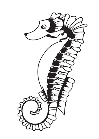 childrens book: Vector illustration of a sea horse for fun-filled childrens book Illustration