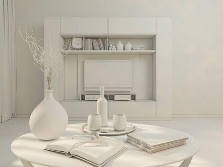 wand beton moderne wohnung studio 1408