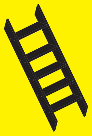 stepladder: Vector illustration of a silhouette stepladder Illustration